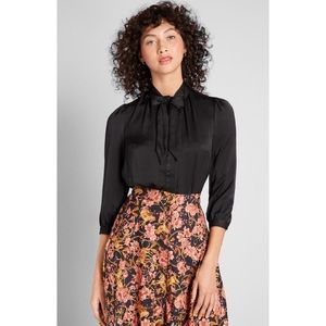 ModCloth HBIC Blouse in Black
